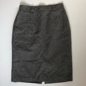 Vintage Tweed High Waisted Pencil Skirt Size 8